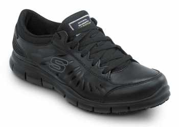 Skechers SSK405BLK Stacey Black Soft Toe, Slip Resistant, Low Athletic