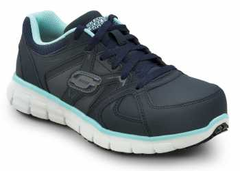 Skechers SSK406NVAQ Jackie Navy/Aqua, Aluminum Alloy Toe, EH, Athletic