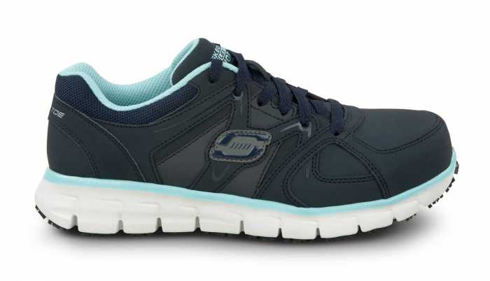 Skechers SSK406NVAQ Jackie Navy/Aqua, Aluminum Alloy Toe, EH, Athletic