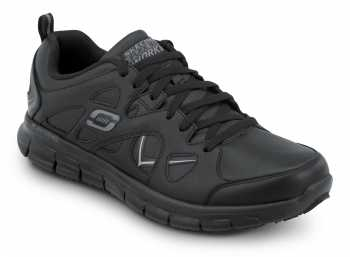 Skechers SSK605BLK David Black Soft Toe, Slip Resistant, Low Athletic