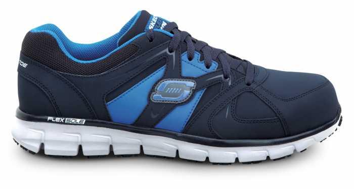Skechers SSK606NVBL Men's Black Blue Athletic Aluminum Alloy Electric Hazard Slip Resistant
