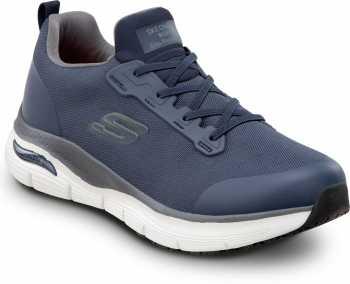Skechers Arch Fit SSK8038NVY Jake, Men's, Navy, Soft Toe, Slip Resistant, Slip On Athletic