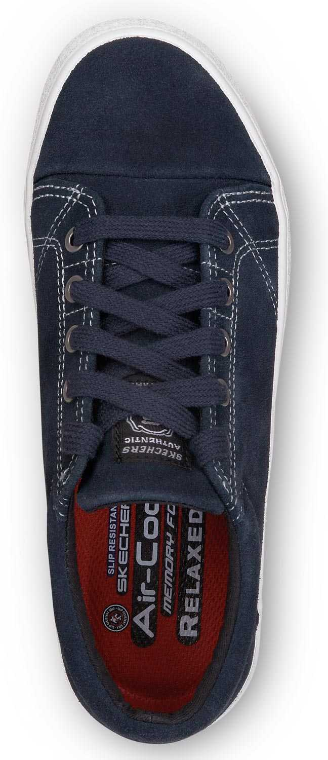 Skechers SSK8172NVW Brooke, Women's, Navy/White, Soft Toe, Lace up