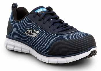 SKECHERS Work SSK8173NVY Mia, Women's, Navy, Alloy Toe, EH, Slip Resistant Low Athletic
