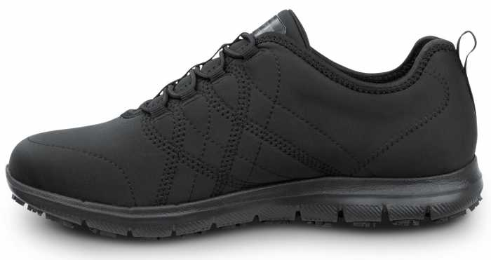 SKECHERS Work SSK8348BLK Alex, Women's, Black, Soft Toe, Slip Resistant Athletic