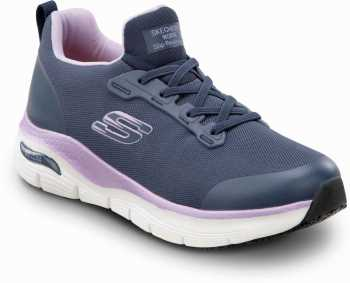 Skechers Arch Fit SSK8436NVY Leslie, Women's, Navy, Alloy Toe, Slip Resistant Slip On Athletic