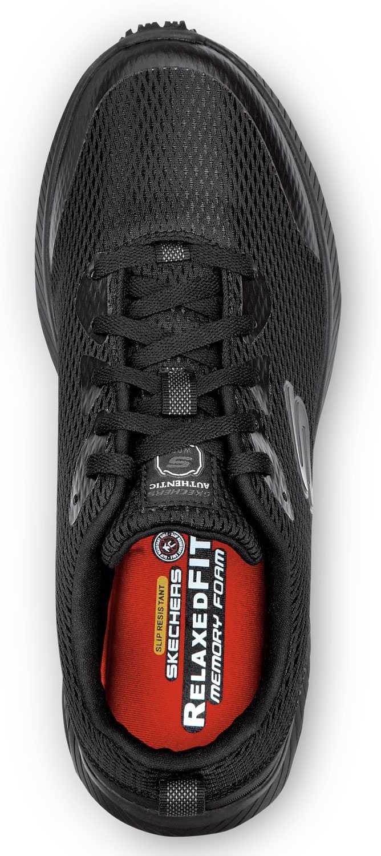 SKECHERS Work SSK9149 Jason, Men's, Black, Soft Toe, Slip Resistant Athletic