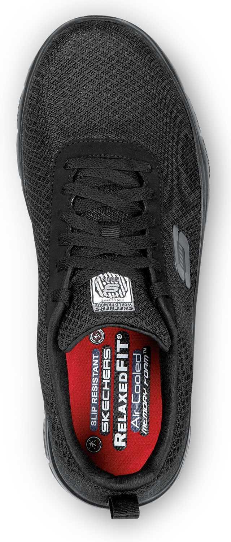 Skechers SSK9159BLK Luke, Men's, Black, Soft Toe, Slip Resistant Lace Up
