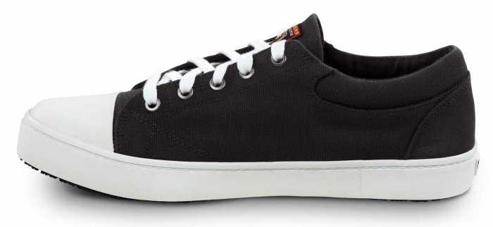 SKECHERS Work SSK9740BKW Patrick Black/White, Men's, Soft Toe, Slip Resistant Skate Shoe