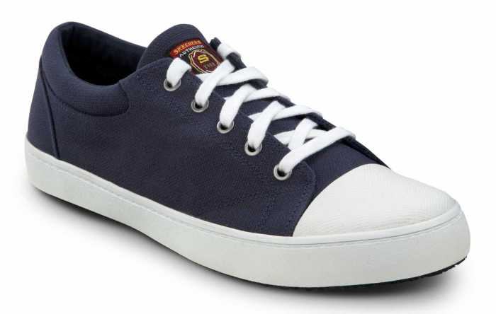 Skechers SSK9740NVW Patrick Navy/White, Men's, Soft Toe, Slip Resistant Skate Shoe