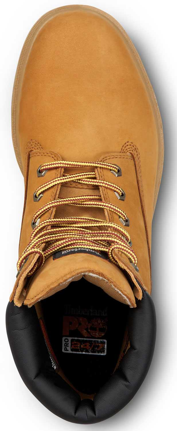 Timberland PRO STMA1V48 6IN Direct Attach Men's, Wheat, Soft Toe, Slip Resistant, WP Boot