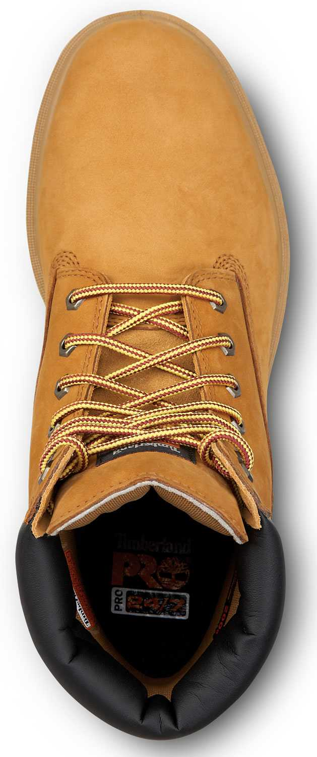 Timberland PRO STMA1W6B 6IN Direct Attach Men's, Wheat, Steel Toe, EH, Slip Resistant, WP Boot