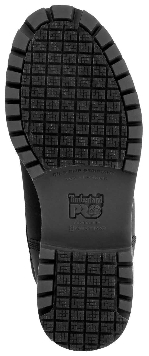 Timberland PRO STMA1WDU Men's Direct Attach, Black, Steel Toe, EH, Slip Resistant, WP, 8 Inch