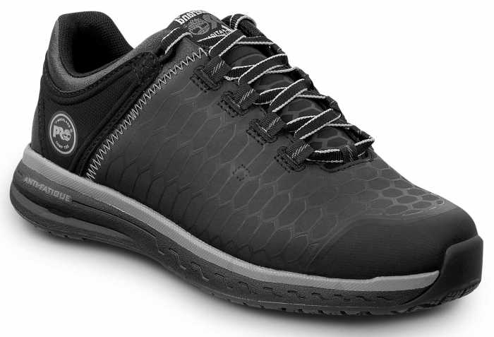 Timberland PRO STMA1XTG Powerdrive, Women's, Black, Soft Toe, EH, Low Athletic