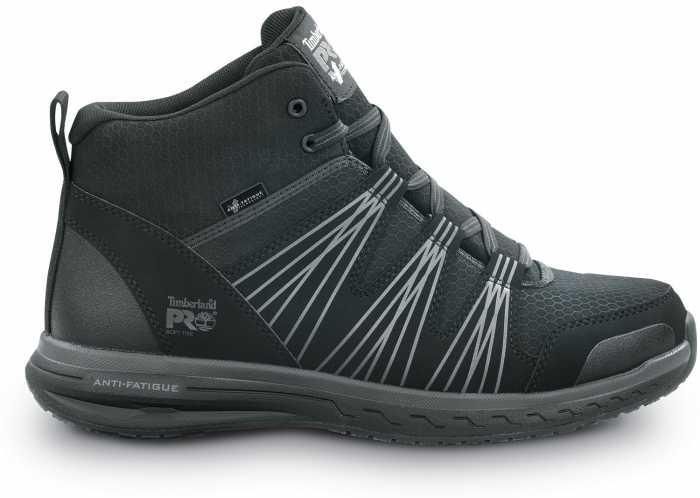Timberland PRO STMA2BWE Powerdrive, Men's, Black, Soft Toe, EH, High Hiker