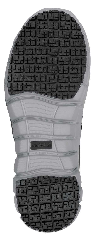 Reebok Work SRB031 Sublite Women's, Black/Grey, Slip On Athletic Style Slip Resistant Soft Toe Work Shoe