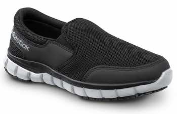 Reebok SRB031 Sublite Women's, Black/Grey, Soft Toe,Twin Gore Slip On