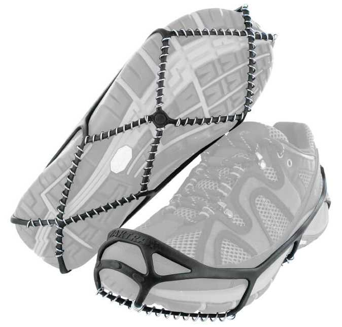 Yaktrax Walker Black Men's and Women's Rubber Steel Coil Men's sizes 1 to 4 and a half. Women's 2 and a half to 6.