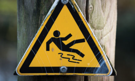 What are the main causes for slipping in the workplace?