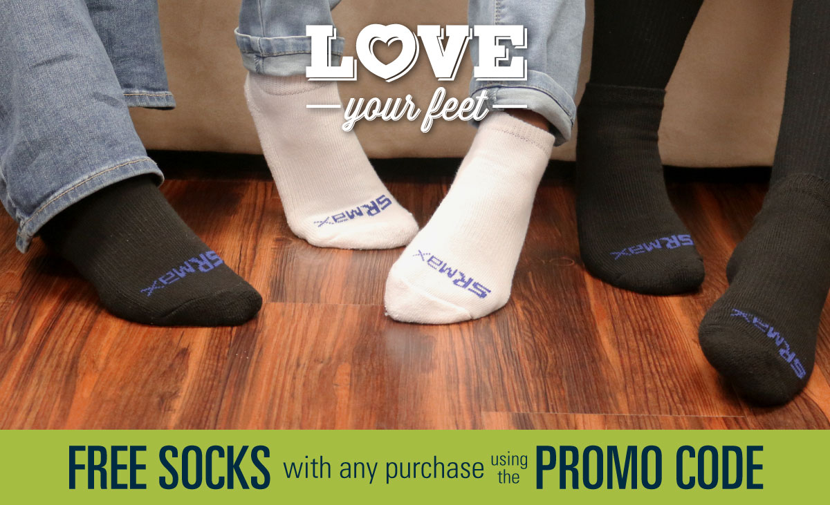 Free pair of socks with purchase in February