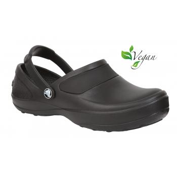 Crocs Women's Black Soft Toe Slip Resistant Clog