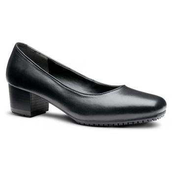 Genuine Grip GGM8500 Women's Black, Square Toe, Slip Resistant, Dress Shoe With Heel
