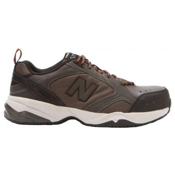 New Balance NBMID627G Men's Grey Steel Toe, Static Dissipative, Slip Resistant, Low Athletic