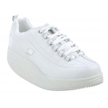 Skechers Work SK76428WHT Women's Shape-Ups White, Slip Resistant Athletic With Kinetic Wedge Midsole