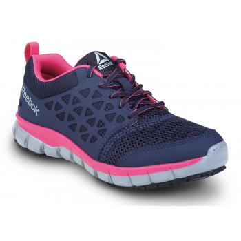 Reebok SRB032 Sublite Cushion Work, Pink/Dark Purple, Women's, Slip Resistant Athletic