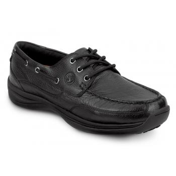Rockport Works SRK900 Women's Black Soft Toe, MaxTrax Slip Resistant, Boat  Shoe