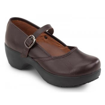 SR Max SRM138 Vienna Women's Brown Mary Jane Slip Resistant Clog