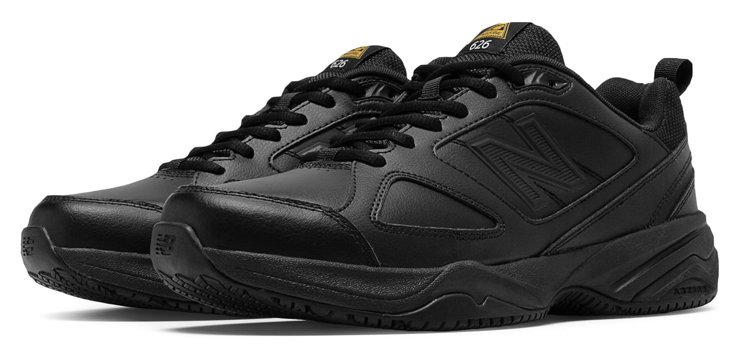 08be791b New Balance Men's Black Slip Resistant Low Athletic